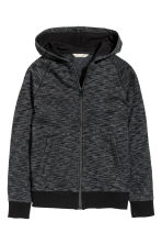 Hooded jacket - Dark grey marl - Kids | H&M CN 2